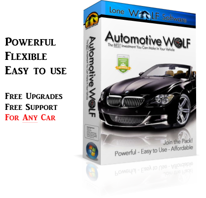 Automotive Wolf Vehicle Maintenance Schedule Software Product Box