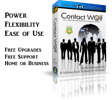 Contact Wolf Address Book Software Features