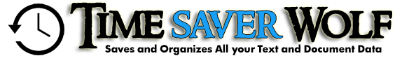 Time Saver Wolf Text & Document Management Software Top Image