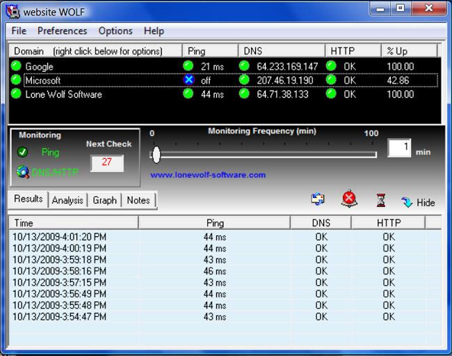 websitewolf website monitoring software for windows