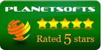 Planet Softs 5 Star Backup Software award
