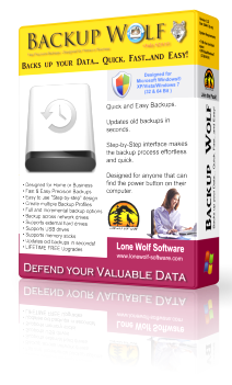 Backup Wolf Backup Software Product Box