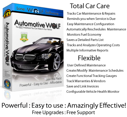 Automotive Wolf Car Care Software Product Box Image