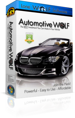 Car Maintenance Schedule Software Box