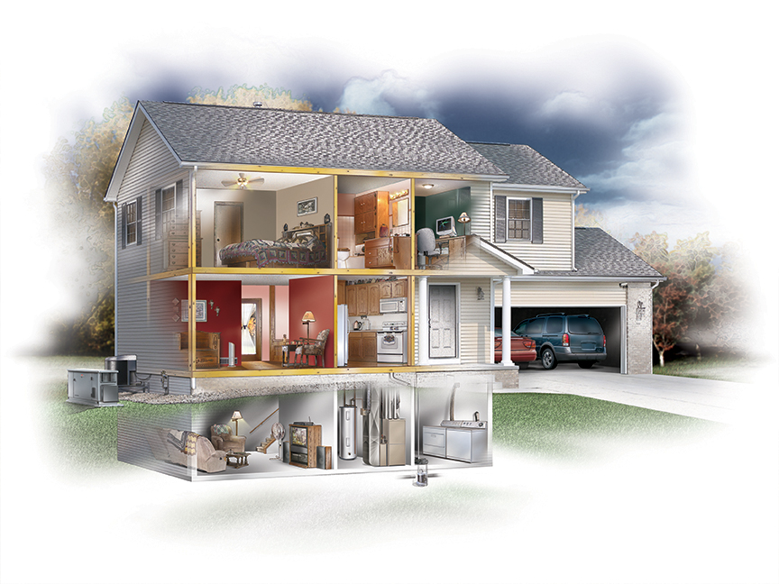 home inventory software house cutaway image