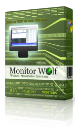 Monitor Wolf Web Site Monitoring Software Product Box Image
