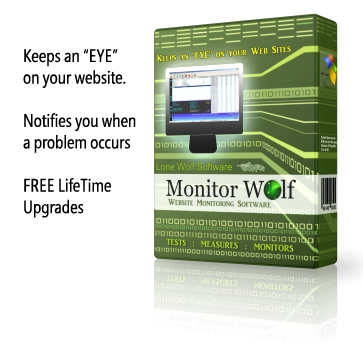 Monitor Wolf Website Monitoring Software Product Box Image