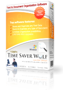 Time Saver Wolf Text Document Management Software Product Box