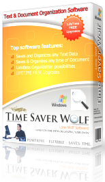 Time Saver Wolf Text & Document Management Software Box