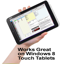 Address Book Software running on Tablet PC